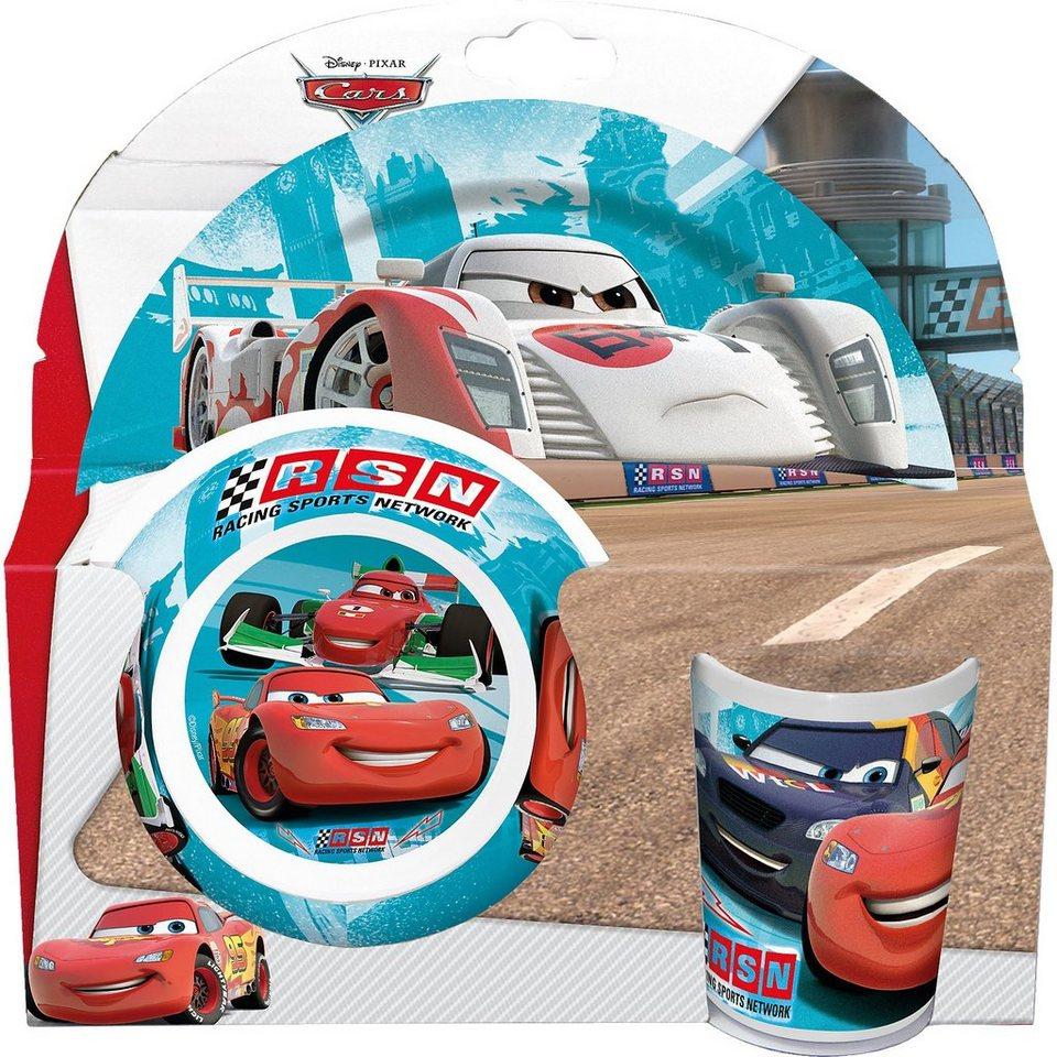 P:OS Kindergeschirr Melamin Cars RSN, 3-tlg.