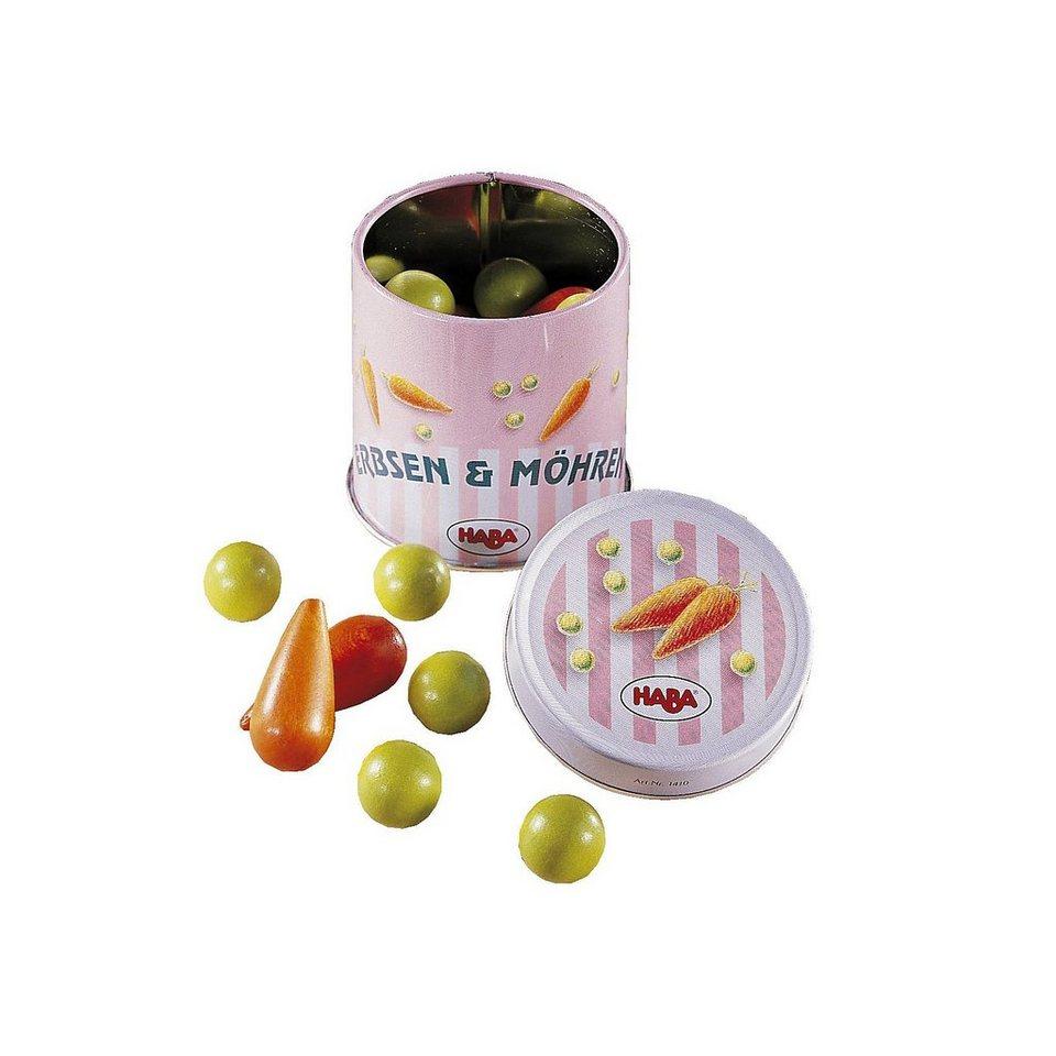 Haba 1410 Dose Erbsen und Möhren Spiellebensmittel