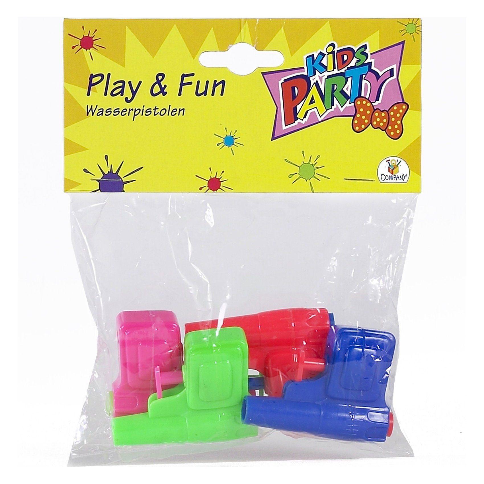 Party Fun Wasserpistolen, 4 Stück