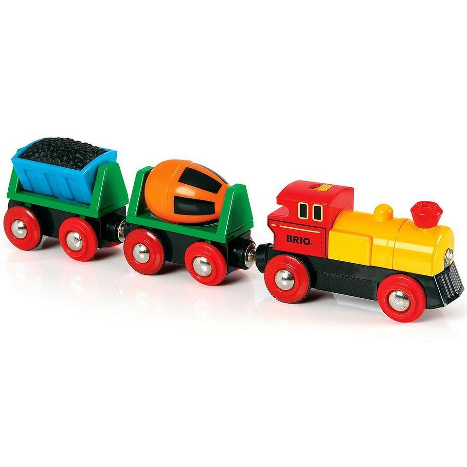 BRIO Zug mit Lok und Anhängern (Batteriebetrieb)