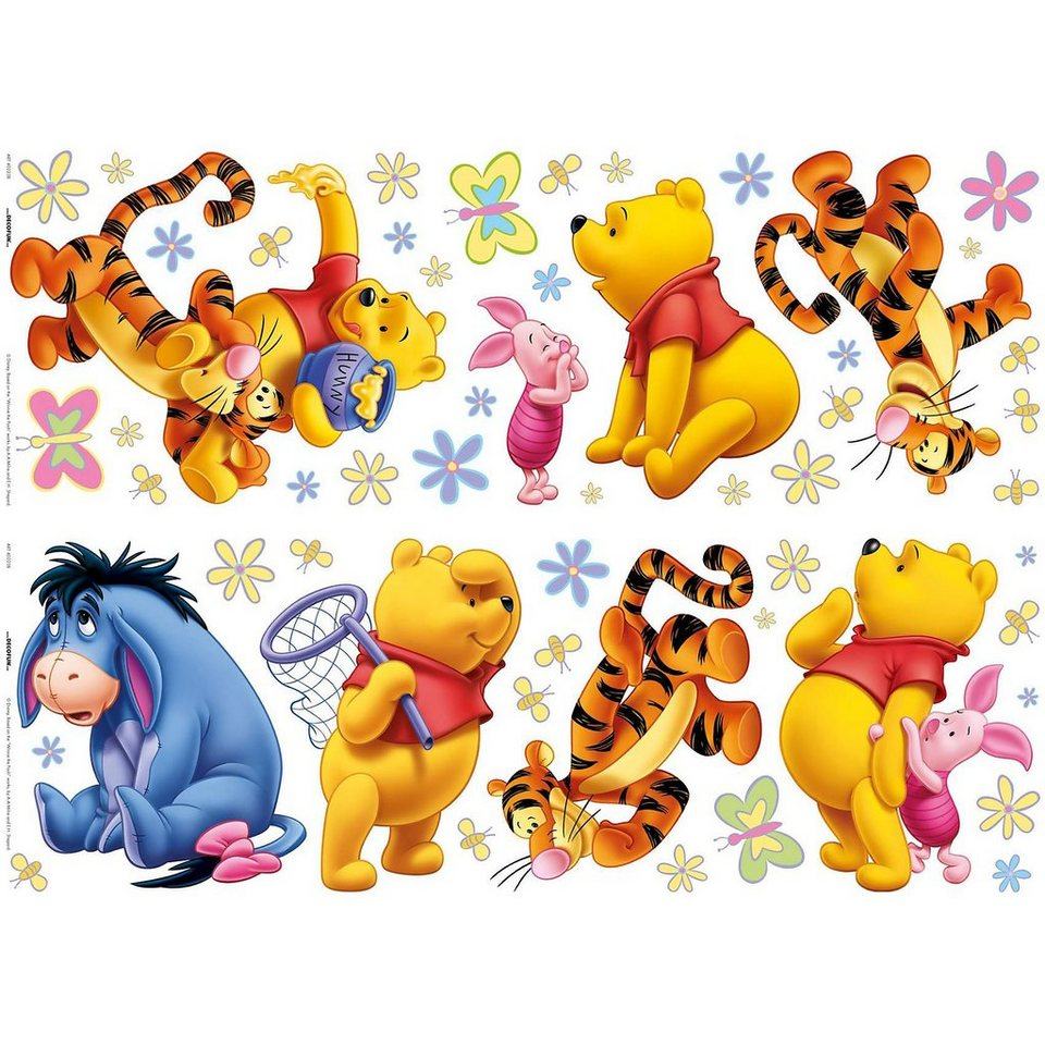 decofun wandsticker winnie the pooh acre wood otto. Black Bedroom Furniture Sets. Home Design Ideas