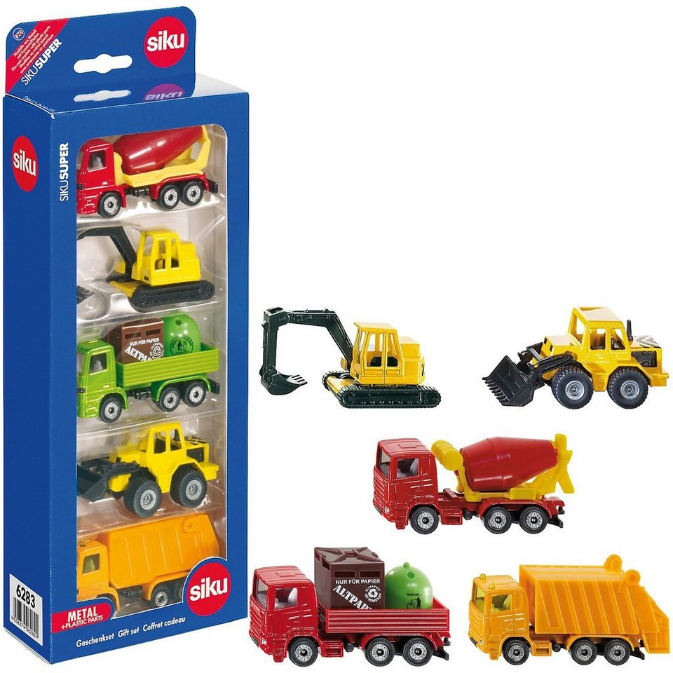 SIKU 6283 Geschenk-Set Baufahrzeuge