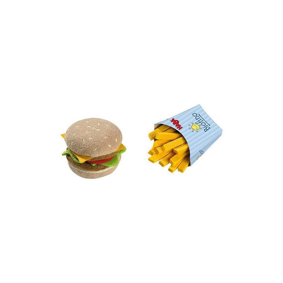 Haba 1475 Hamburger mit Pommes, Stoff Spiellebensmittel