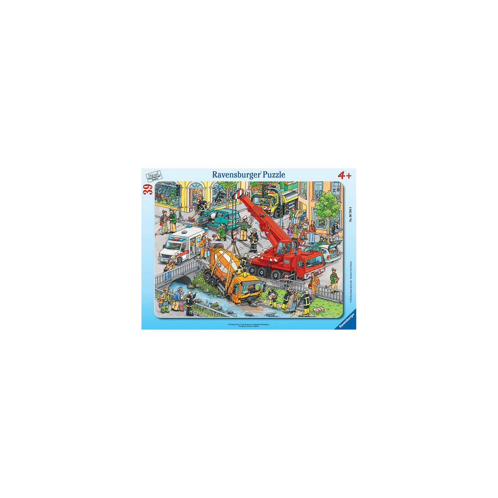Ravensburger Rahmenpuzzle-39 Teile- Rettungseinsatz