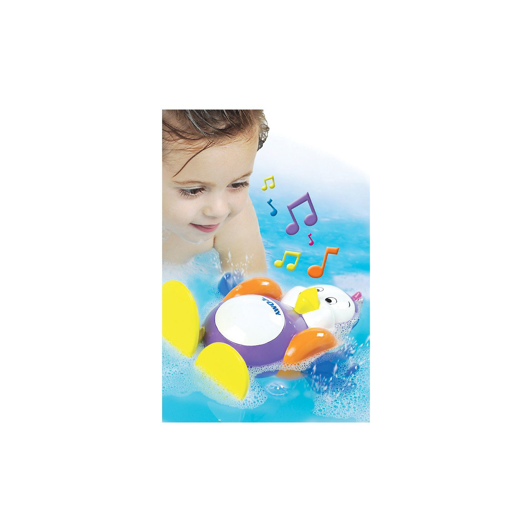 TOMY Badespielzeug - Plantschi, der Pinguin