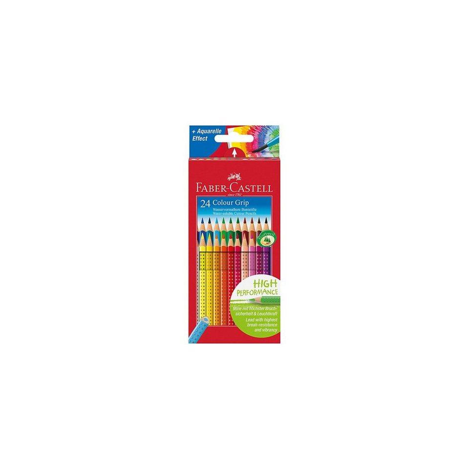 Faber-Castell COLOUR GRIP Farbstifte wasservermalbar, 24 Farben
