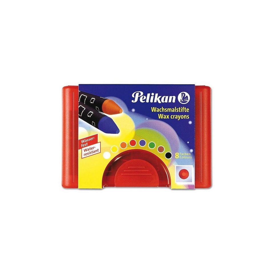 Pelikan Wachsmalstifte, rund, wasserfest, Box mit 8 Farben
