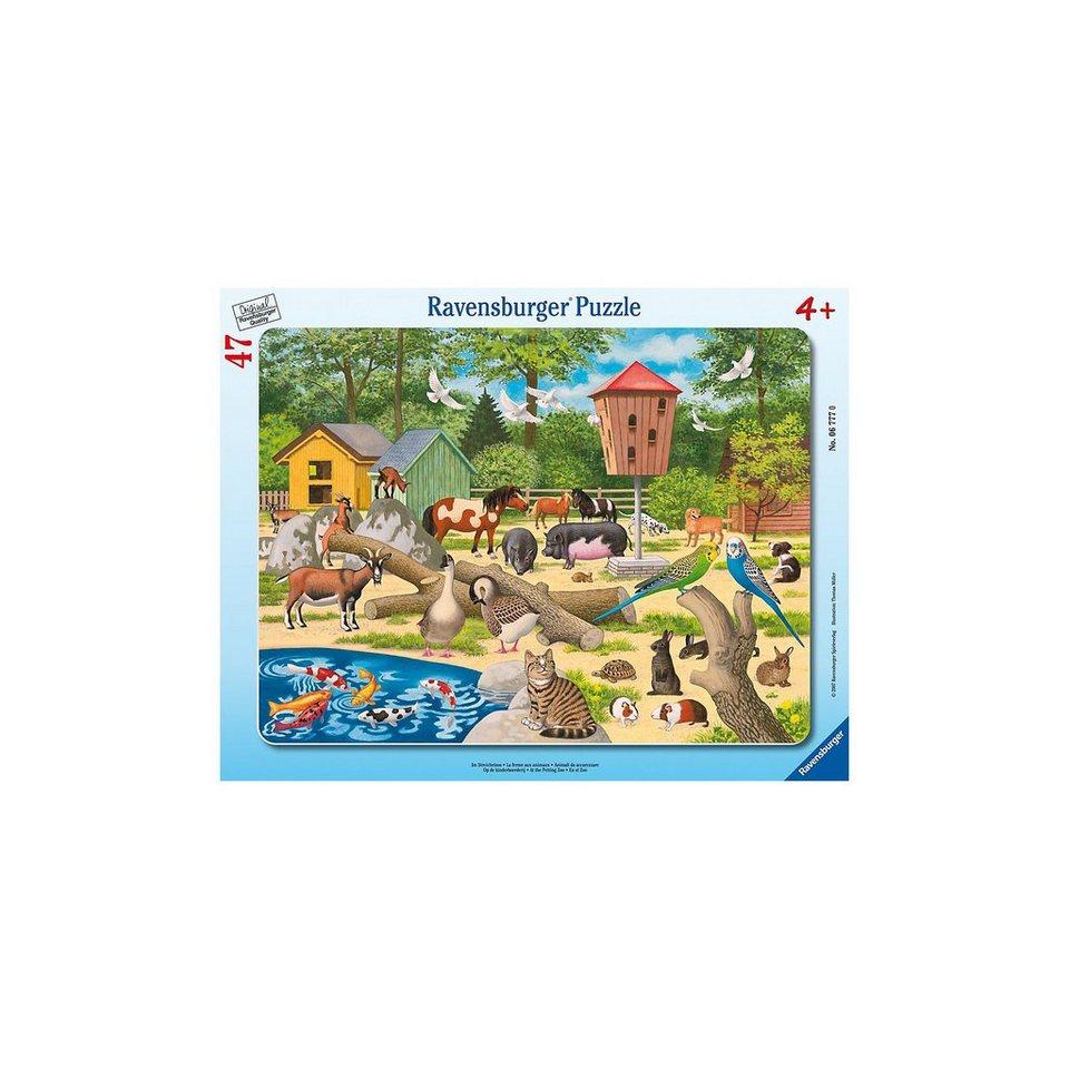 Ravensburger Rahmenpuzzle- 47 Teile- Im Streichelzoo