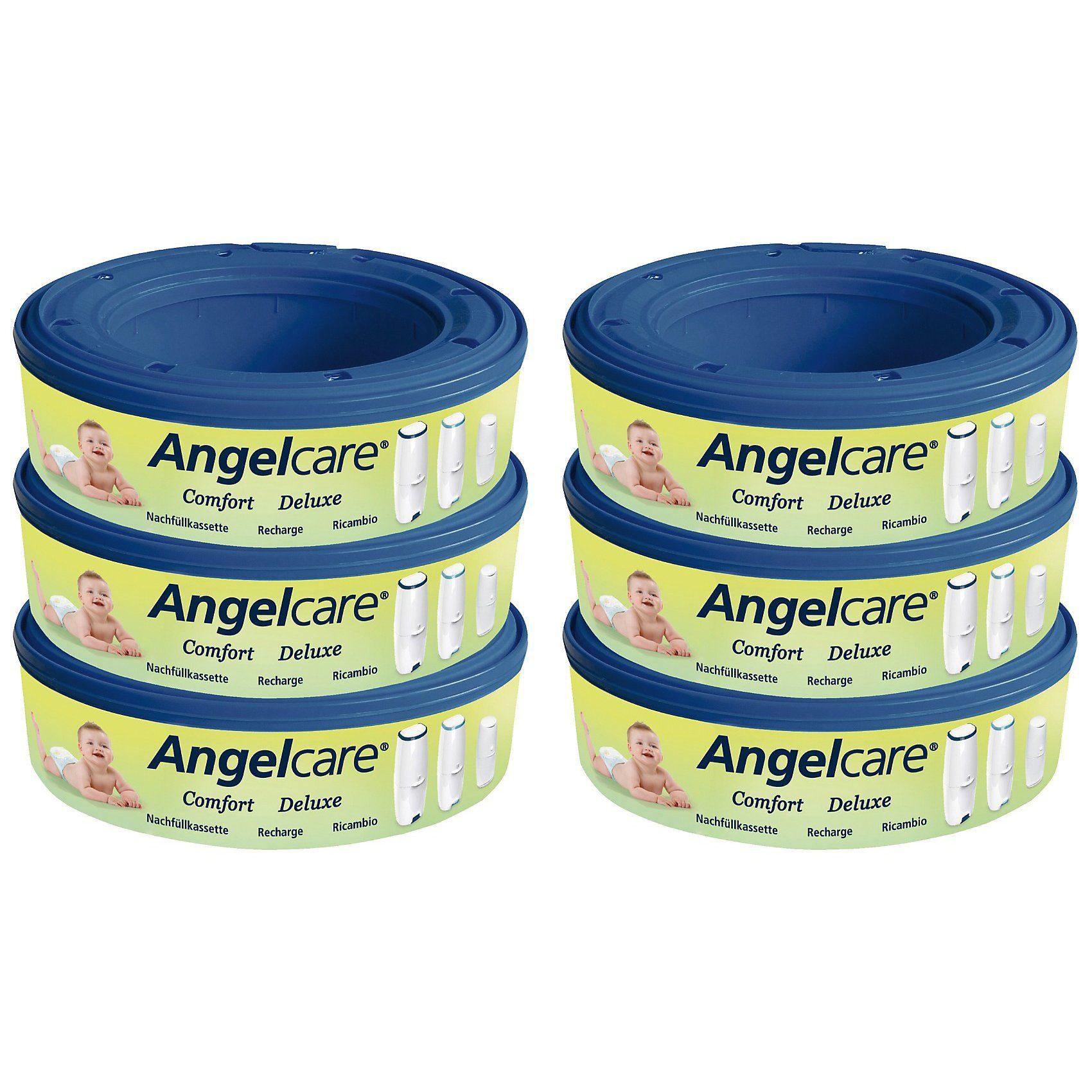 Angelcare Nachfüllkassette für ® Windeleimer, 6er Packung