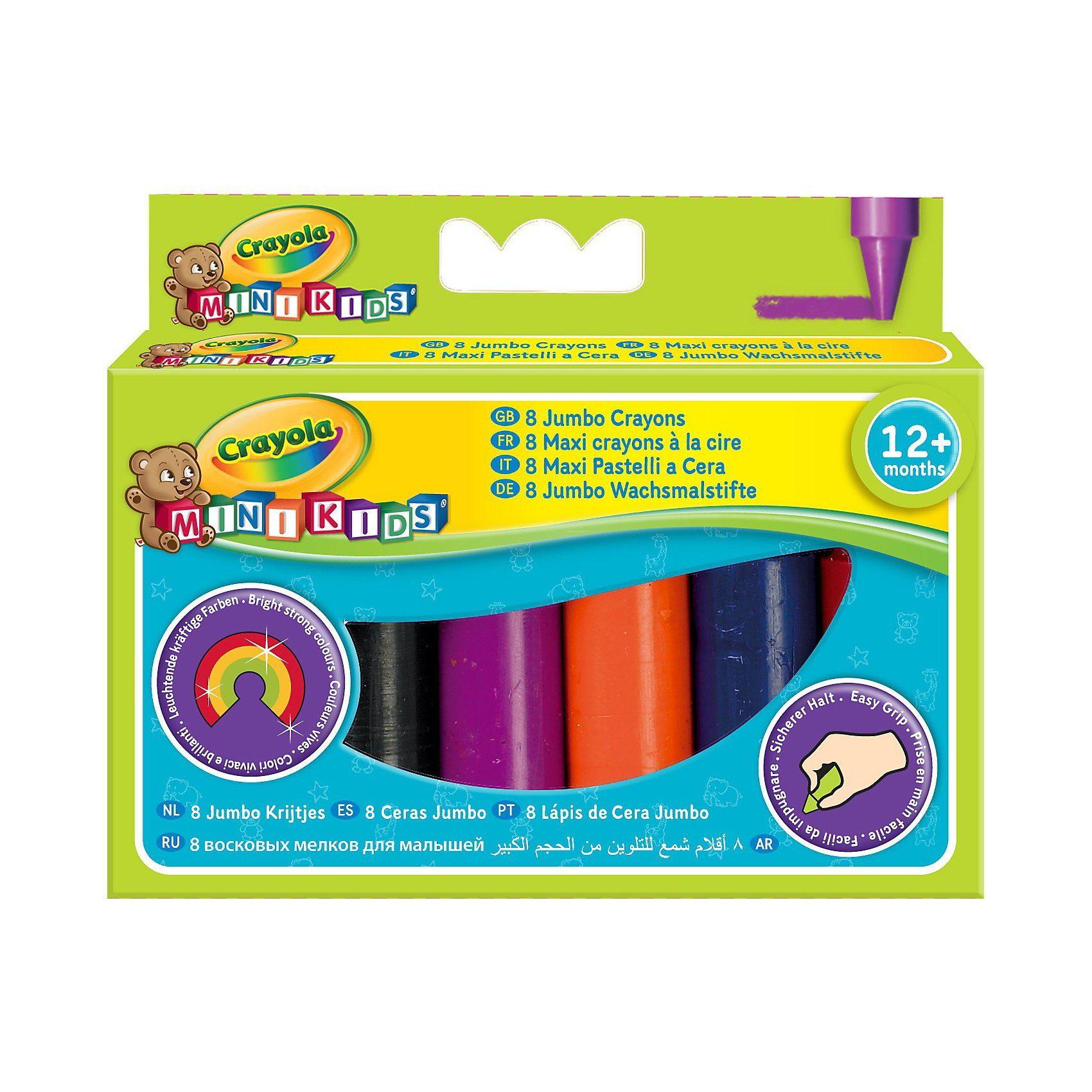 Crayola® MINI KIDS Jumbo Wachsmalstifte, 8-tlg.