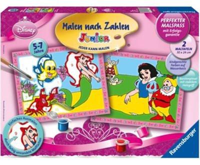 Ravensburger Malen nach Zahlen Junior - Disney Princess Arielle und Schne