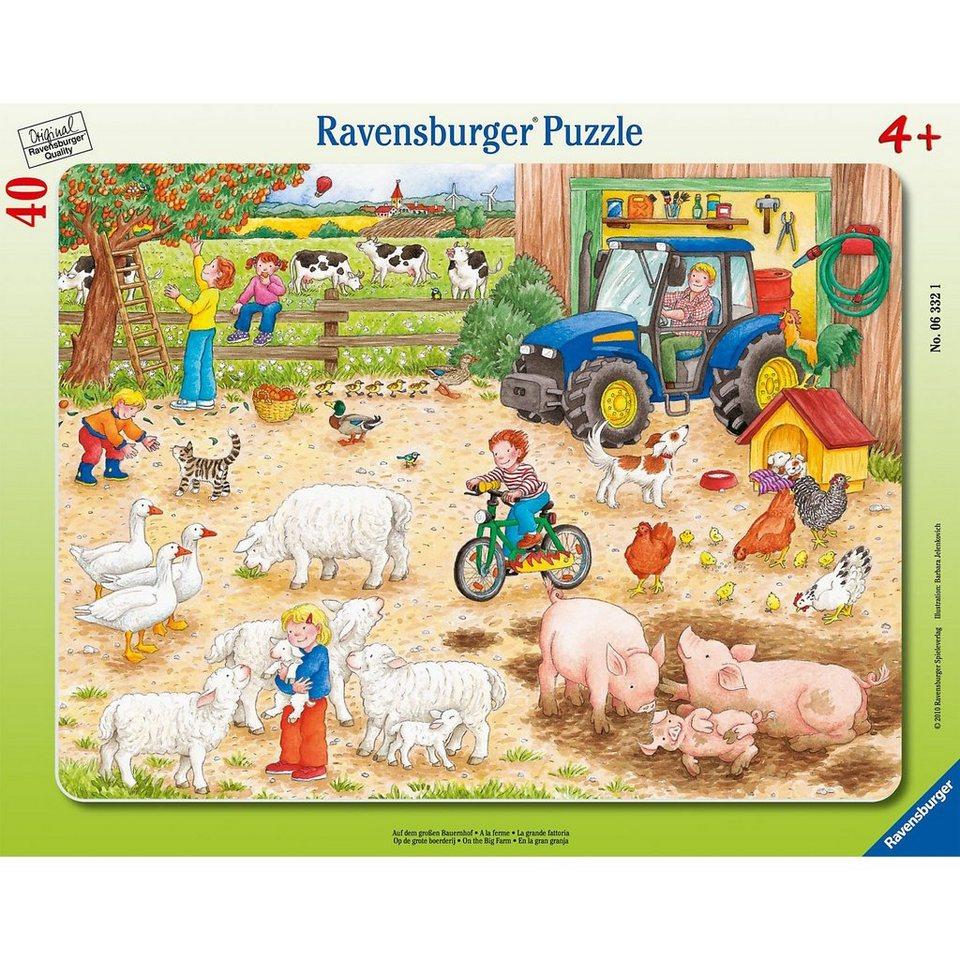 Ravensburger Rahmenpuzzle 40 Teile Auf dem großen Bauernhof