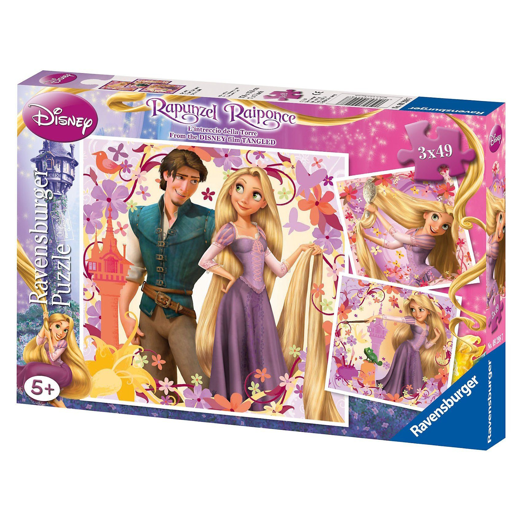 Ravensburger Puzzleset 3 x 49 Teile Disney Rapunzel
