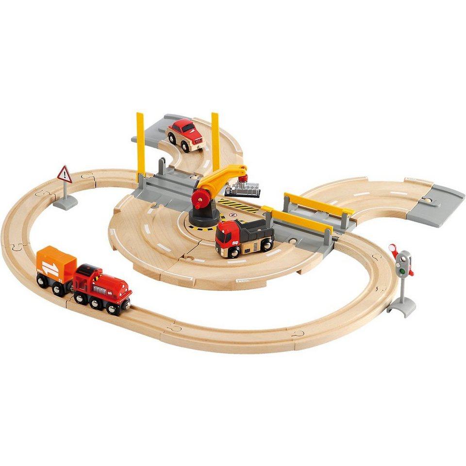 BRIO 33208 Straßen & Schienen - Kran Set
