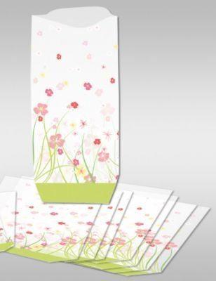 URSUS Geschenk-Bodenbeutel Blumen, 10 Stück