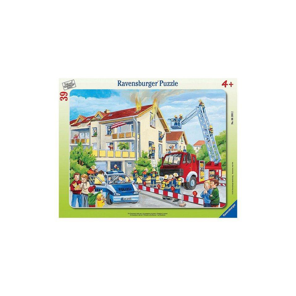 Ravensburger Rahmenpuzzle 39 Teile Die Feuerwehr rückt aus