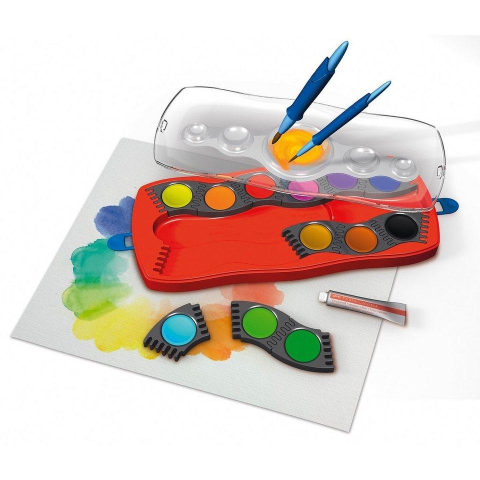 Faber-Castell CONNECTOR Deckfarbkasten, 12 Farben, inkl. Deckweiß