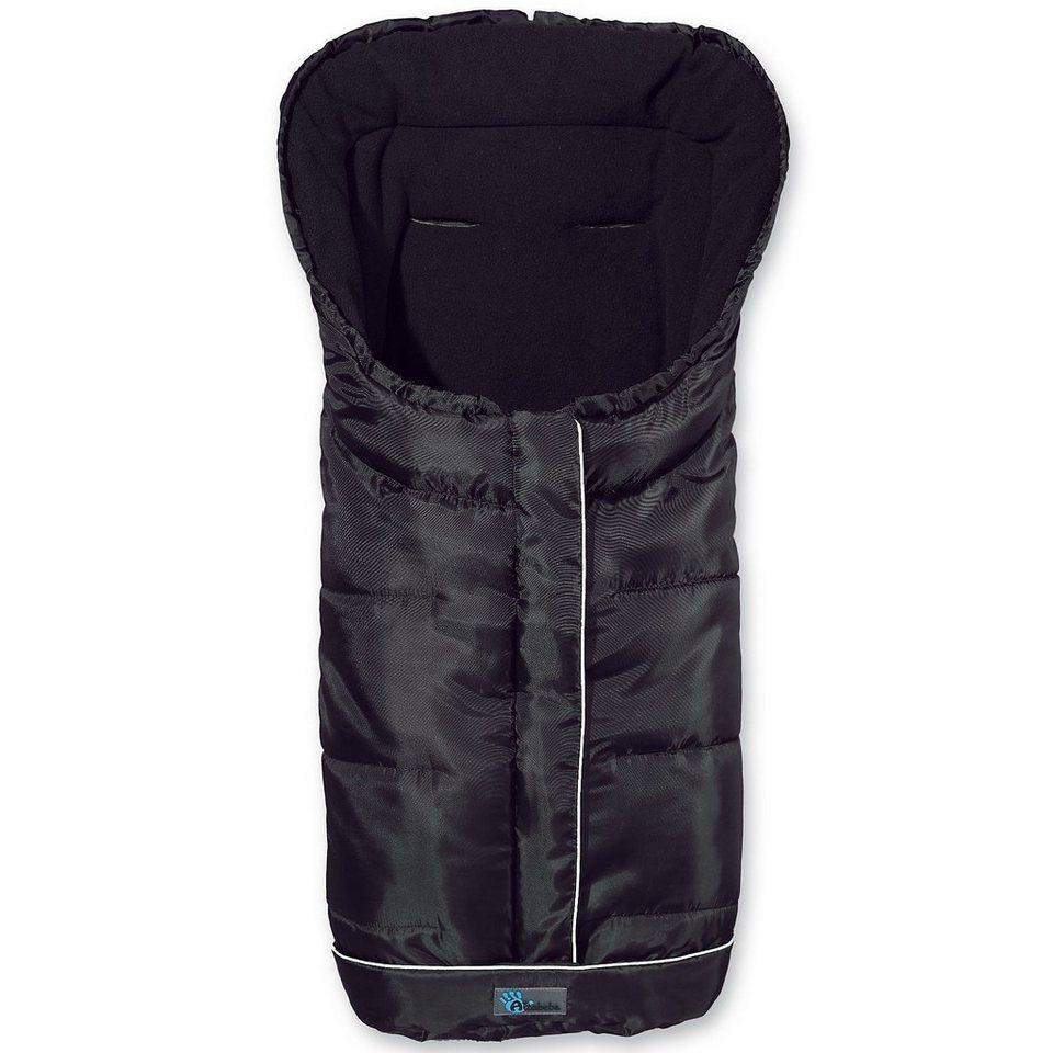 Altabebe Fußsack Fleece mit Reflektorstreifen und ABS, schwarz