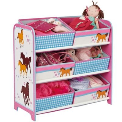 WORLDS APART 6-Boxen Regal Pferde in rosa
