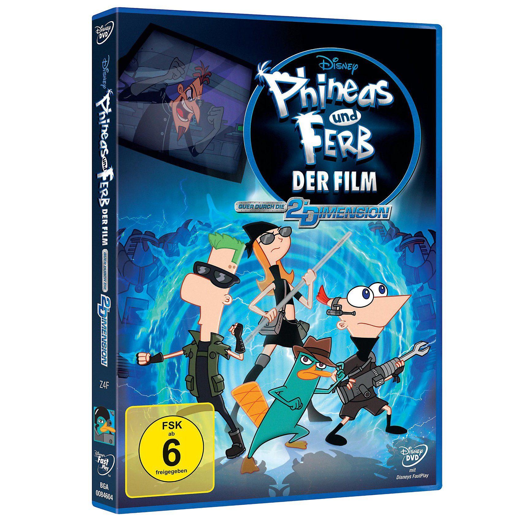 Disney DVD Phineas und Ferb DER FILM: Quer durch die 2. Dimension