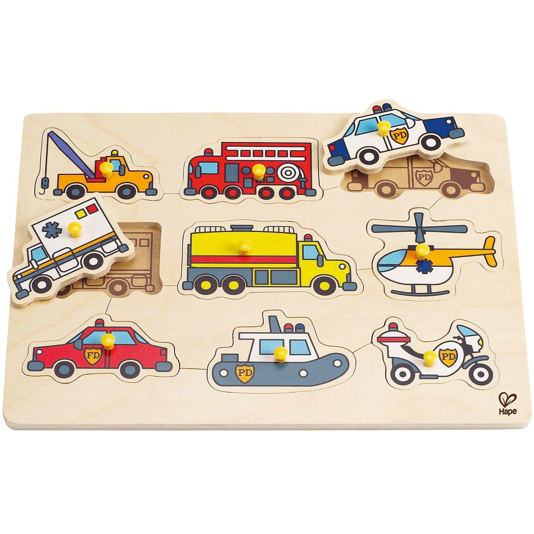 HAPE Steckpuzzle Rettungsfahrzeuge