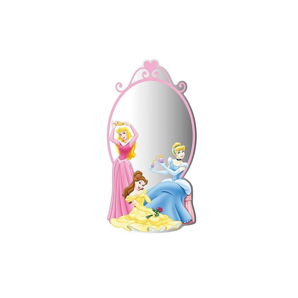 Decofun Spiegel Disney Princess, 30 x 50 cm in rosa