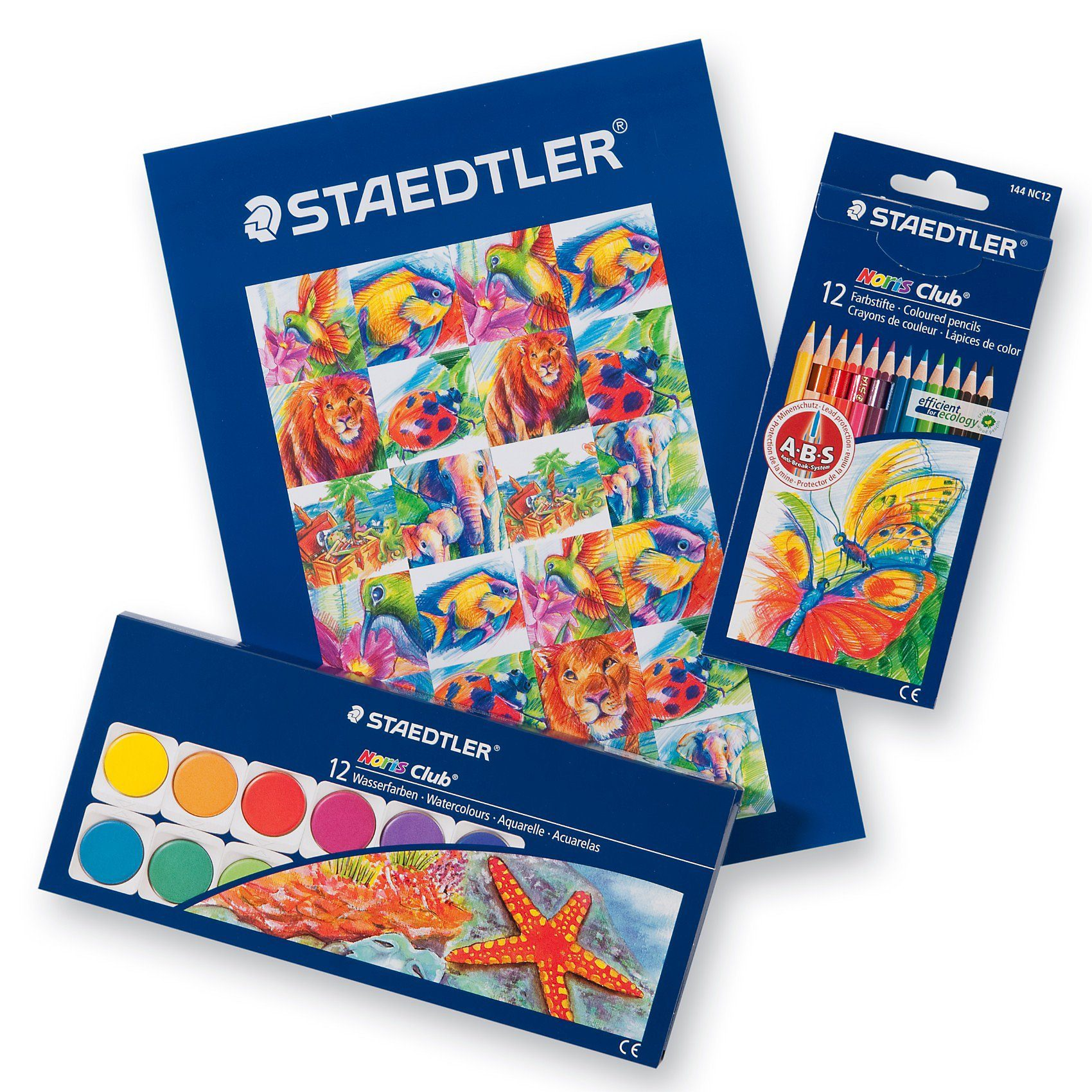 STAEDTLER NORIS Club Super-Malset., 3-tlg.