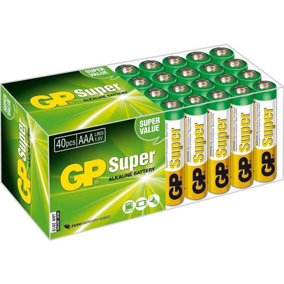 Alkaline Batterien Multipack AAA, Micro, LR 03 (40er Pack)