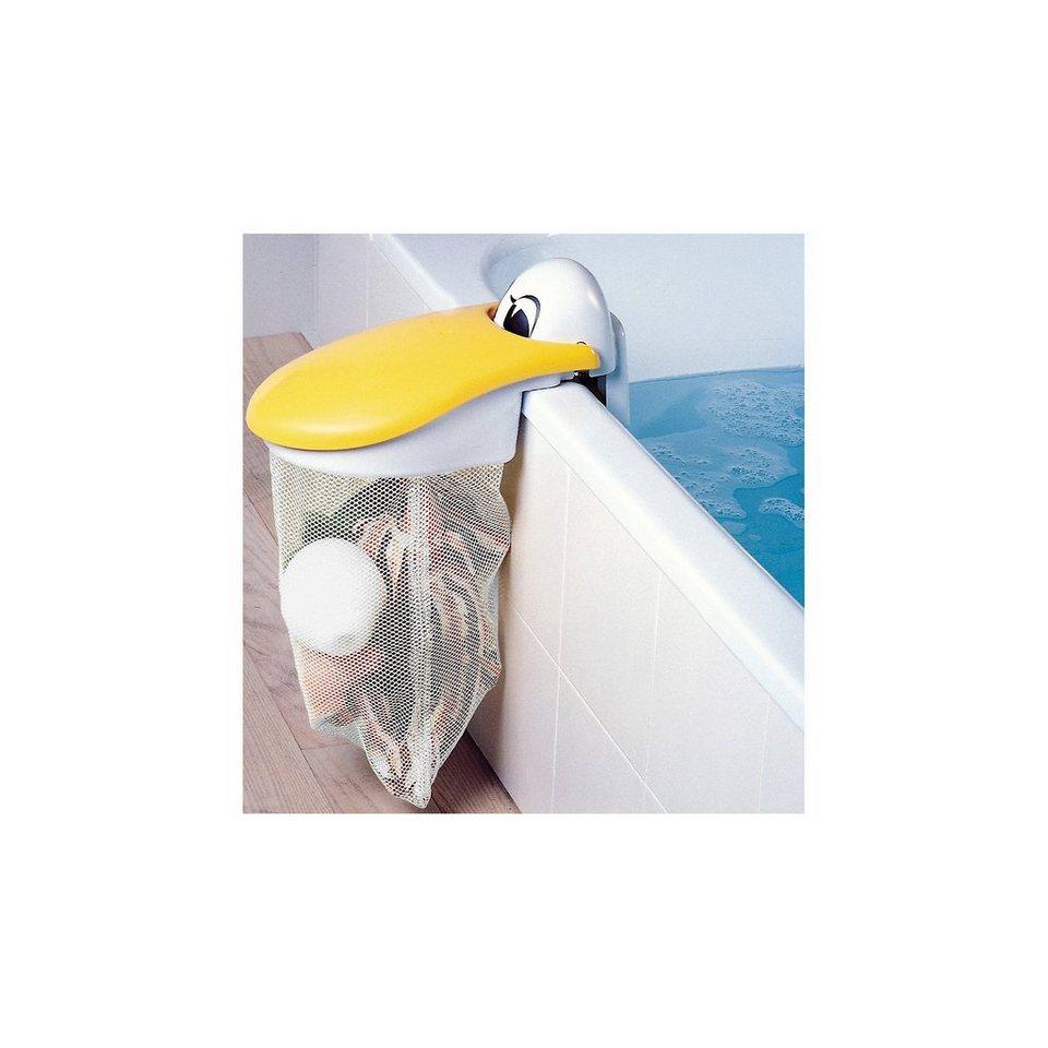 KidsKit Spielzeug-Badewannennetz Pelikan in weiß