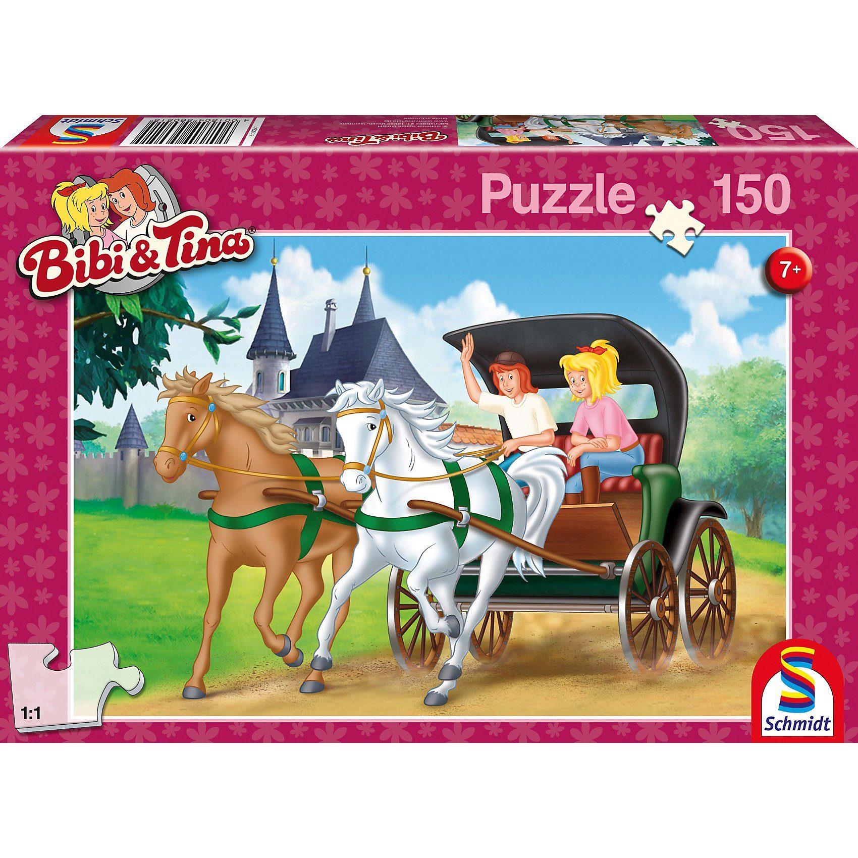 Schmidt Spiele Puzzle Bibi & Tina, Kutschfahrt, 150 Teile