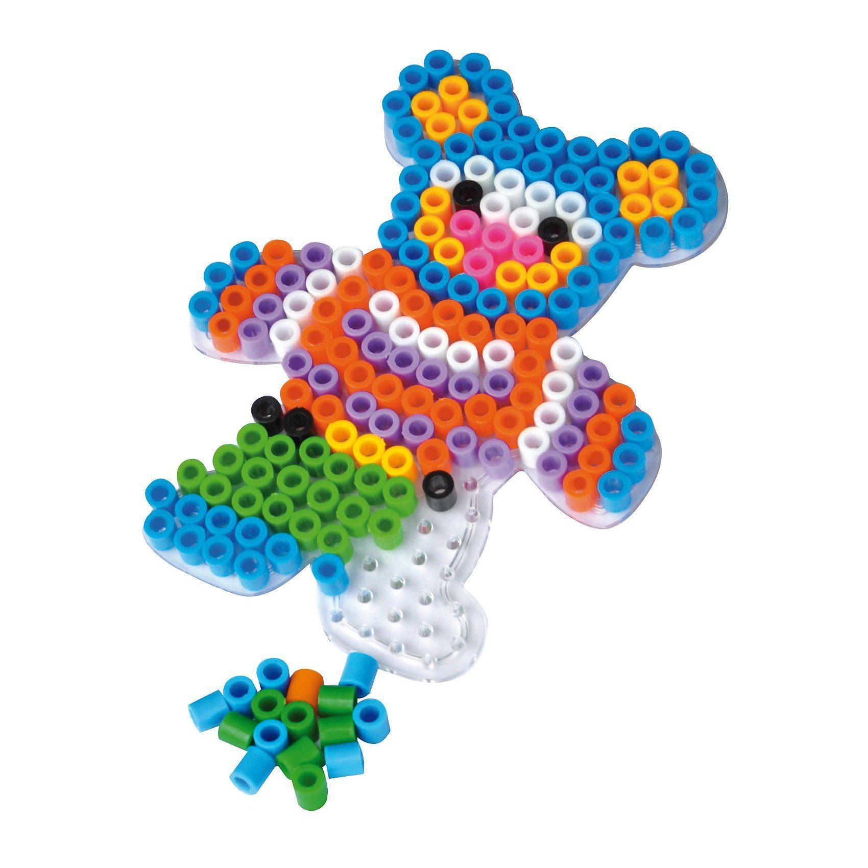 Playbox XL-Bügelperlen-Steckplatten, 3 Stück - Bär, Herz & Auto