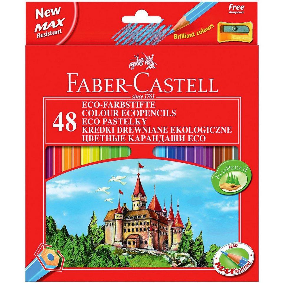 fabercastell ecobuntstifte 48 farben inkl spitzer