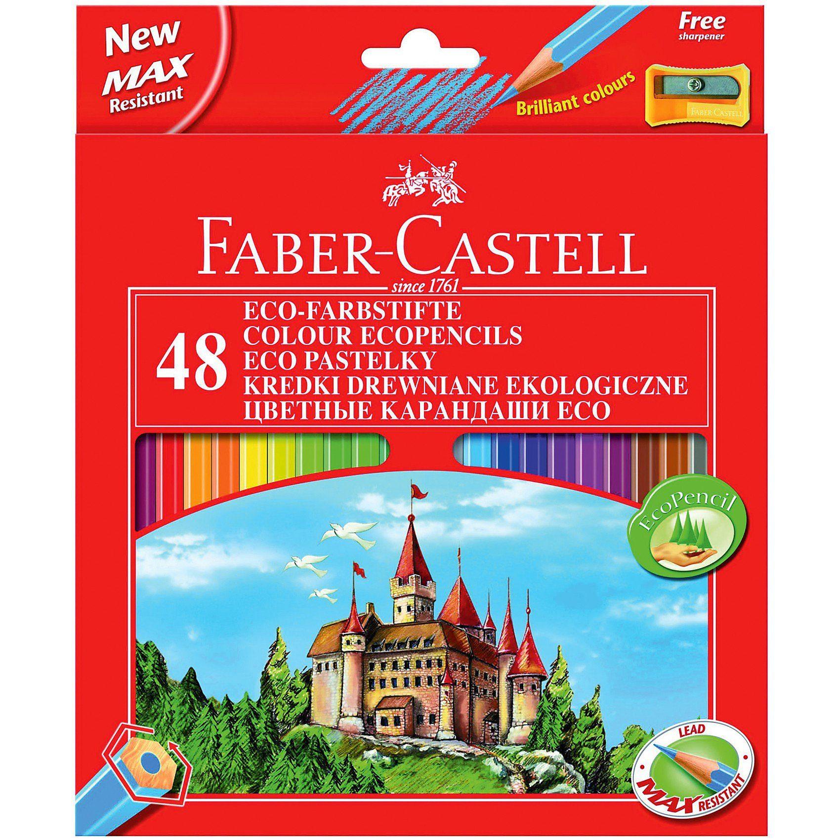 Faber-Castell ECO-Buntstifte, 48 Farben inkl. Spitzer