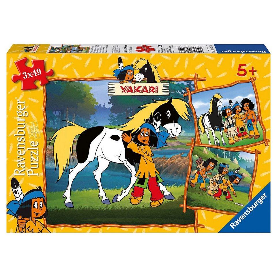 Ravensburger Puzzleset 3x49 Teile - Yakaris beste Freunde