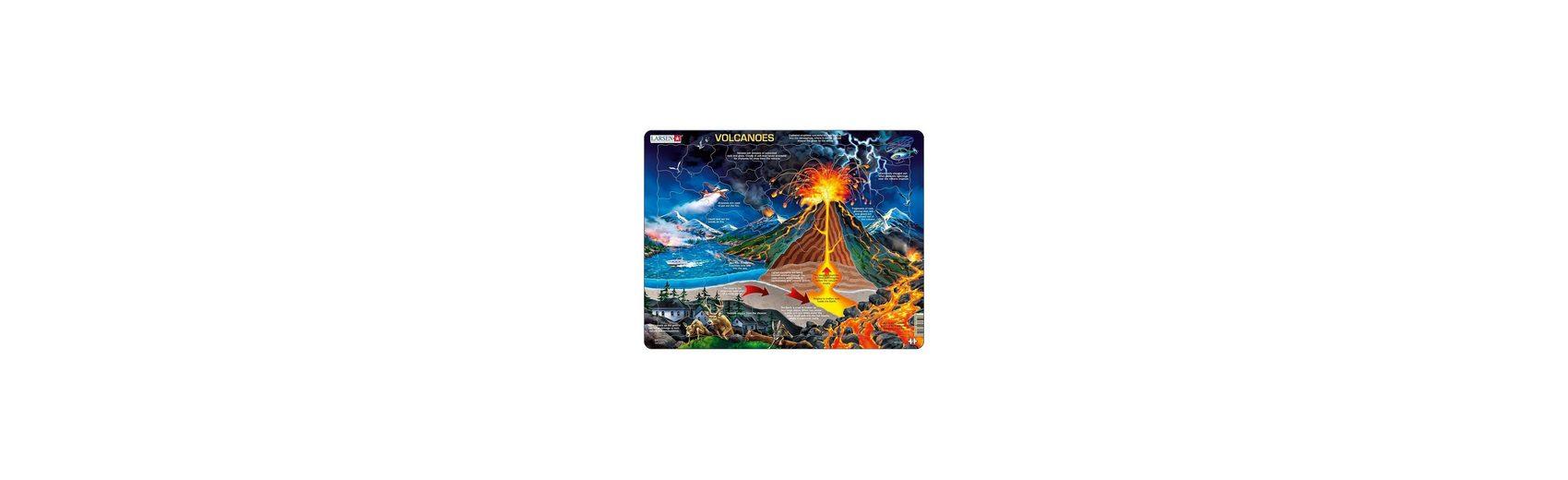 Larsen Rahmenpuzzle: Vulkane - 70 Teile