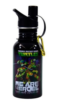 UNITED LABELS Trinkflasche Ninja Turtles, Aluminium in schwarz