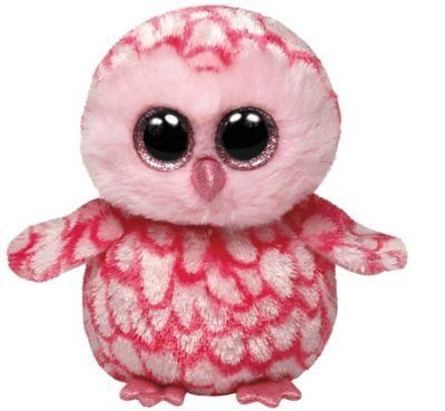 Ty Beanie Boo Schleiereule Pinky, 15 cm