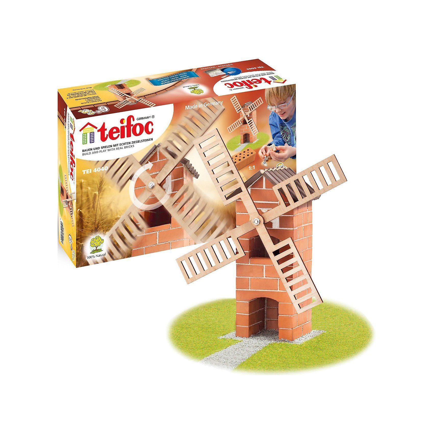 """teifoc TEI 4040 Steinbaukasten - """"Windmühle"""""""