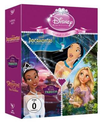 Disney DVD DVD Disneys Prinzessinnen-3er-Pack: Küss den Frosch + Rapunz