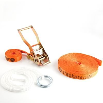 Slackstar Halteseil mit Ring inkl. 15 m Line in orange