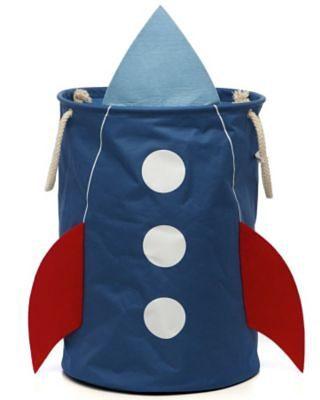 4UNIQ Aufbewahrungstonne Rakete, blau