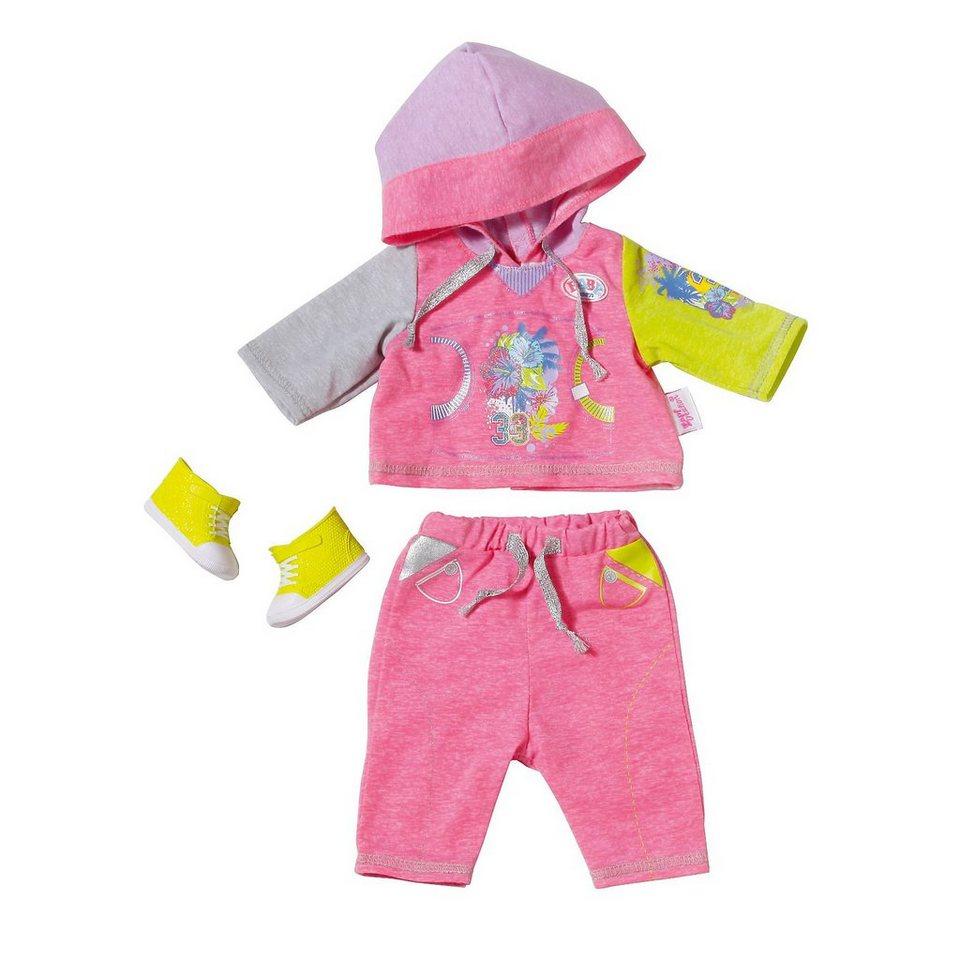 Zapf Creation BABY born® Puppenkleidung Jogging Anzug pink, 43 cm