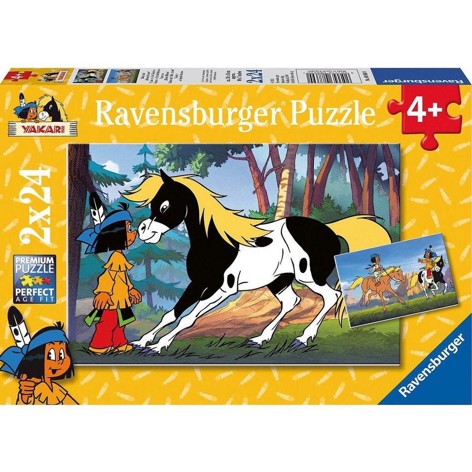 """Ravensburger Yakari und """"kleiner Donner"""" 2 x 24"""