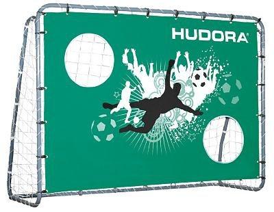 Hudora Fußballtor mit Torwand Double Kick, 213 cm in silber