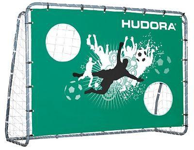 Hudora Fußballtor mit Torwand Double Kick, 213 cm