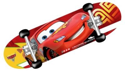 Stamp Cars Skateboard in rot