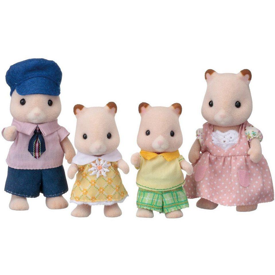 Epoch Traumwiesen Sylvanian Families Hamster: Familie Goldbacke Puppenhauszube