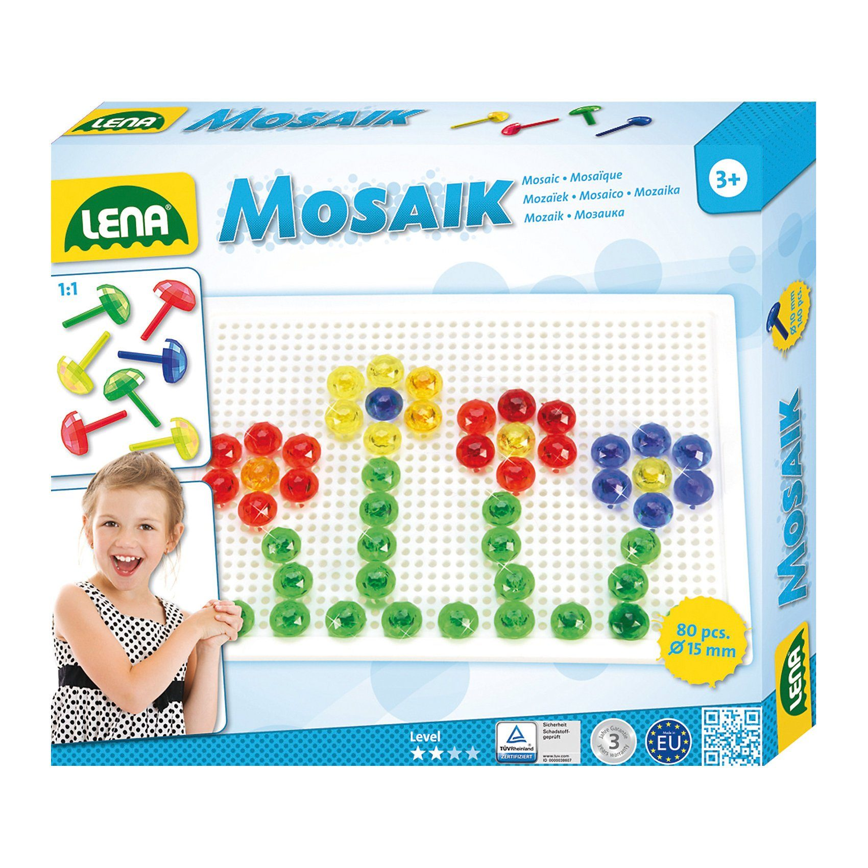 LENA Design Studio Mosaik Transparent, 72-tlg.
