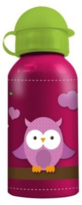 P:OS Alu-Trinkflasche Eule 400 ml in pink