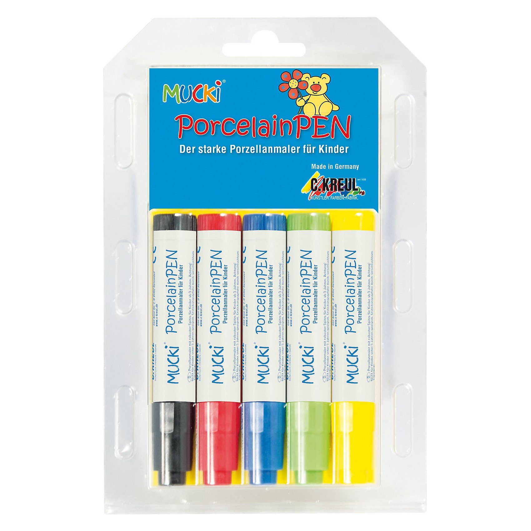 C. KREUL Mucki Porzellanmalstifte Porcelain Pen, 5 Farben